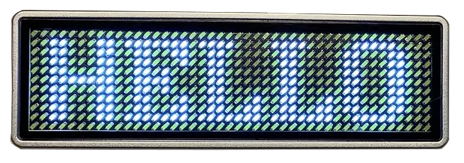 Programmierbare LED Anzeige / Namensschild